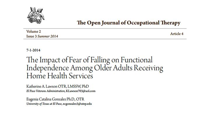 Excellent adult falling fear older speaking